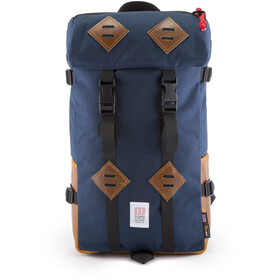 Topo Designs Klettersack Selkäreppu, navy/leather